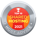 HostAdvice TOP 10 Award for Hostens
