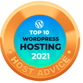 RHC Hosting - 2021 Top 10 Wordpress Hosting Award from HostAdvice