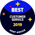 GettyHosting - Great Customer Service Award from HostAdvice