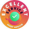 InclusiveHost - Excellent Service Award from HostAdvice
