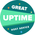 HostAdvice Great Uptime Award for HostFlix - Hospedagem de Sites e Registro de Domínios