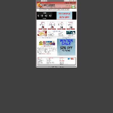 247-host.com HomePage Screenshot
