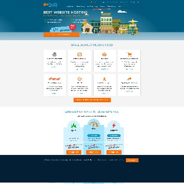 Web Hosting Hub HomePage Screenshot