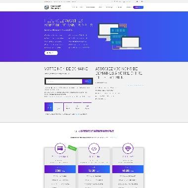 FranceServ Hebergement HomePage Screenshot