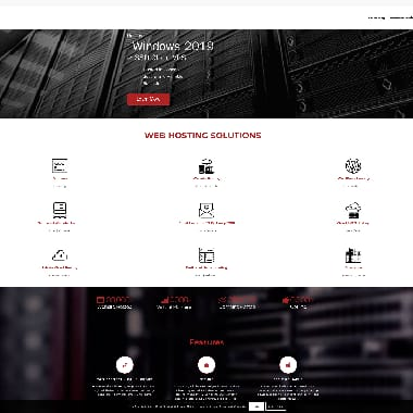 Cirrus Hosting HomePage Screenshot