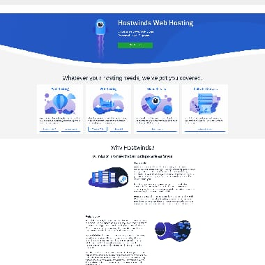 Hostwinds HomePage Screenshot