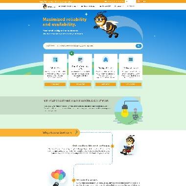 SnelServer.com HomePage Screenshot