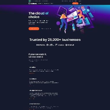 Scaleway HomePage Screenshot
