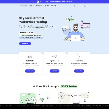 SiteGround HomePage Screenshot