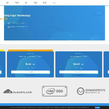 TMDHosting HomePage Screenshot