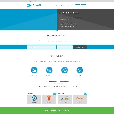 EJHost HomePage Screenshot